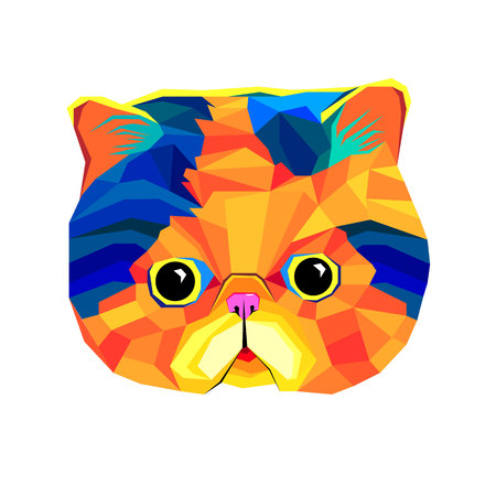 interesting: cat animal contour drawing creative blue bow