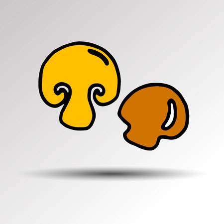 champignon: Collection of mushrooms. Vector illustration. Mushrooms Champignon cartoon vector.
