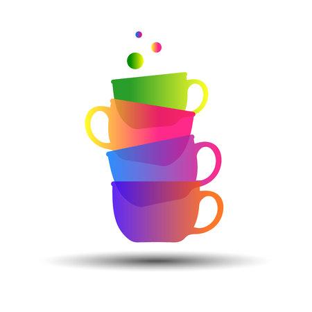 comfort food: cup coffee vector drink espresso icon tea Illustration
