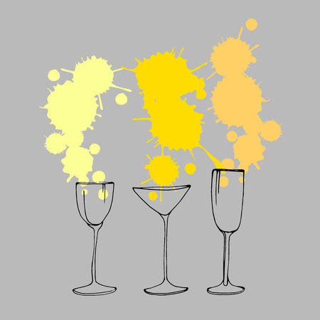 wine glass vector alcohol drink cocktail icon liquid bar symbol illustration