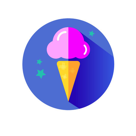 ice cone vector snack summer cold dessert Illustration