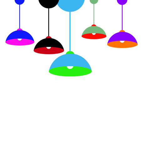 lamp vector chandelier modern light interior color