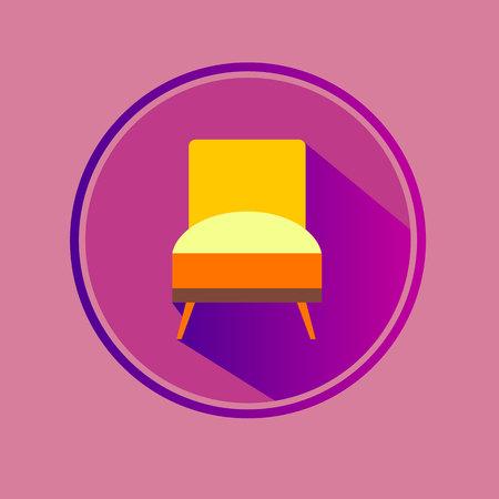 vector chair sofa furniture seat interior home Illustration