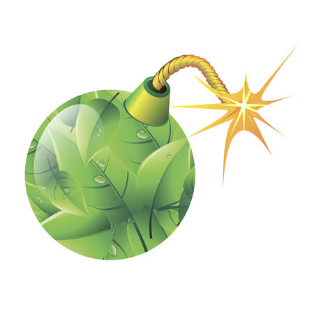green background clean nature ecobomb circle ball