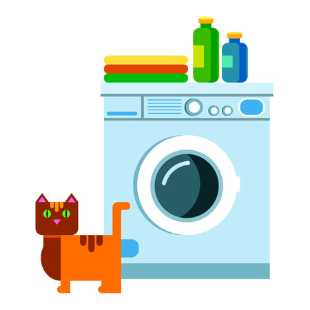 appliance, housework, machine, clothes, vector, laundry, clean, illustration, clothing Illustration