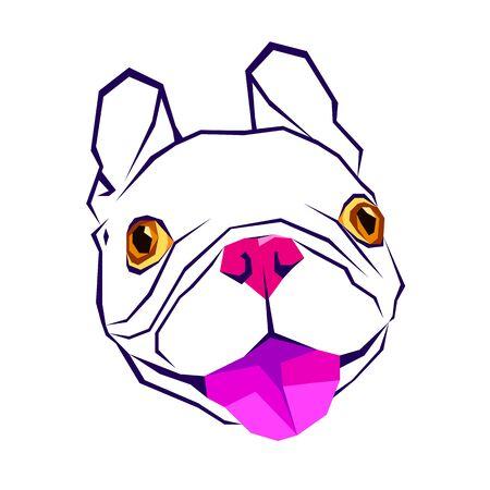 dog vector breed cute pet animal bulldog french Illustration