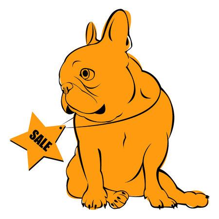 brown haired: dog vector breed cute dog vector breed cute pet animal bulldog