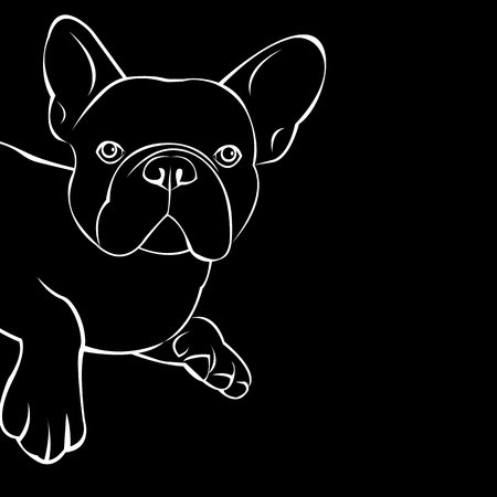 dog vector breed cute pet animal bulldog french Ilustrace