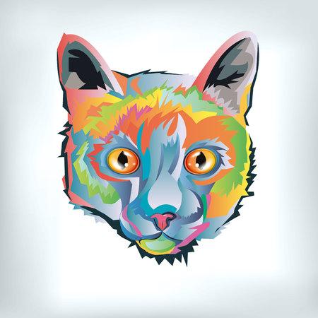 Gatito gato dibujo gato negro animal Ilustración de vector