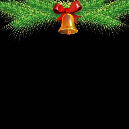 Christmas card. Merry Christmas. bell vector illustration decoration background Illustration