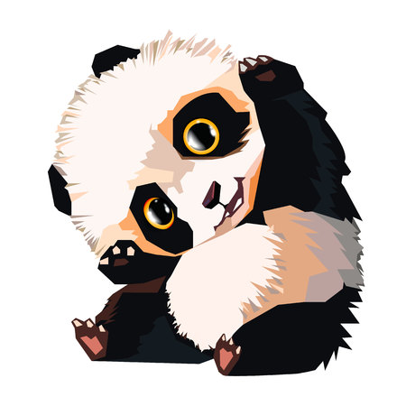 panda vector white bear nature animal grass