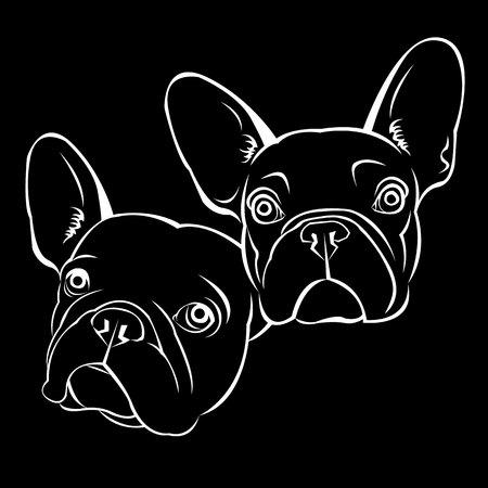 Hond vector ras schattig huisdier bulldog frans