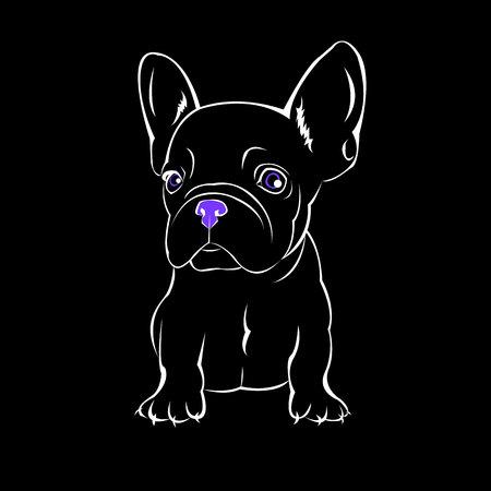 chien vecteur race mignon animaux de compagnie bulldog français