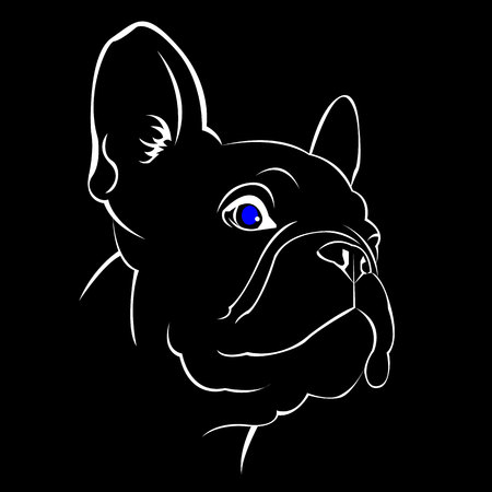 dog vector breed cute pet animal bulldog french Ilustrace