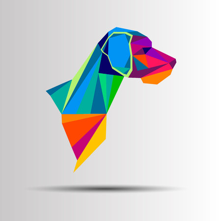 nose close up: dog animal puppy pet vector graphic thoroughbred Illustration
