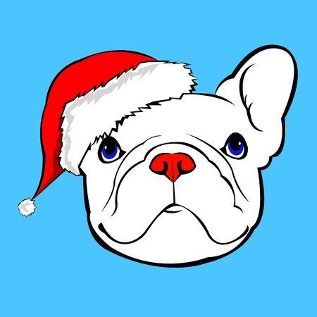 362 line drawing of a bulldog stock vector illustration and royalty rh 123rf com Puppy with Santa Hat Cute Christmas Bulldogs