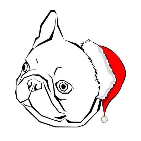318 french bulldog christmas stock illustrations cliparts and rh 123rf com Puppy with Santa Hat English Bulldog Christmas