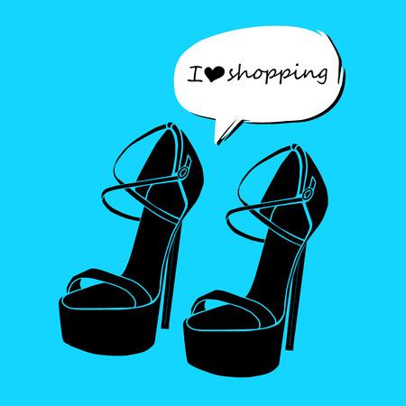 interesting: vector fashion illustration silhouette sketch footwear design