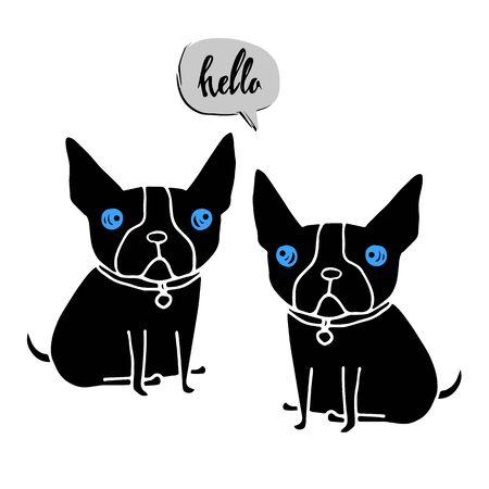 icon, design, dog, vector, emblem, illustration, concept, symbol, template