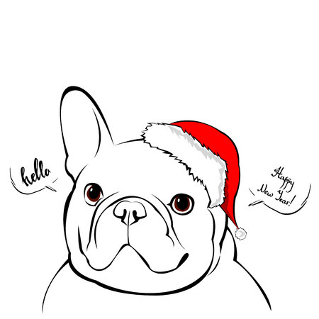 1 915 french bulldog vector stock illustrations cliparts and rh 123rf com Puppy with Santa Hat San Tan Bulldog