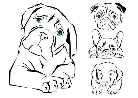 Icona di design cane vector emblema illustrazione concetto Archivio Fotografico - 75095179