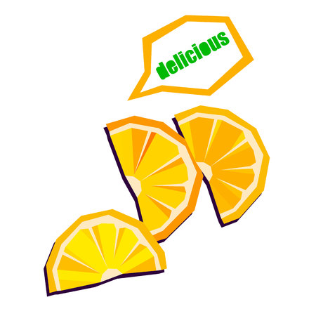 Collection of fruits. lemon, food, fruit, citrus, orange, vector, yellow, fresh Illustration