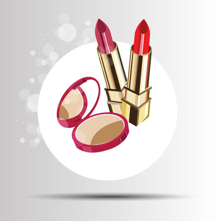 pomade: lipstick red fashion beauty vector makeup glamour beautiful luxury