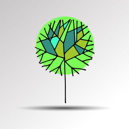 square root: tree sign vector symbol computer illustration graphic Illustration