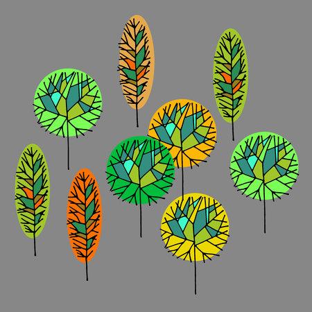 tree sign vector symbol computer illustration graphic Illustration