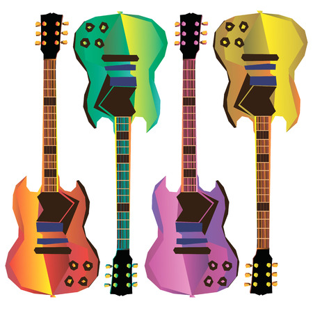 guitar vector music musical acoustic rock illustration