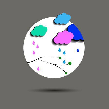 cielo de fondo vector tiempo la naturaleza del clima tormenta de lluvia Vectores