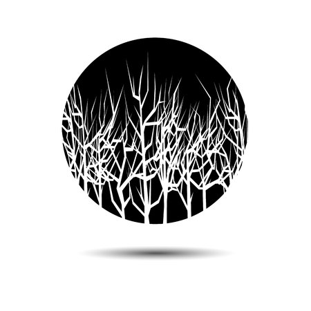 interesting: landscape vector  forest  illustration background silhouette tree