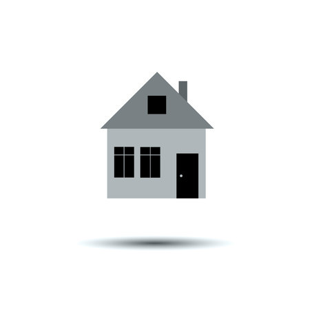 home owner: key, house vector symbol door lock icon illustration