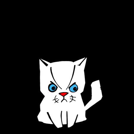 interesting: cat illustration cartoon vector fun art animal black design pet