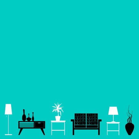 vector interior home furniture design illustration modern