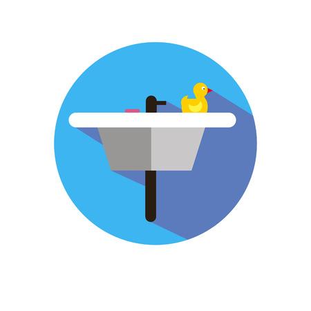 wash hand stand: sink vector washbasin bathroom room bath interior