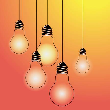 light yellow vector illustration poster black line Illustration