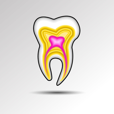 rotten teeth: dental dentist tooth vector illustration hygiene medicine clean white care health