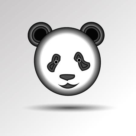 panda vector white bear nature animal grass