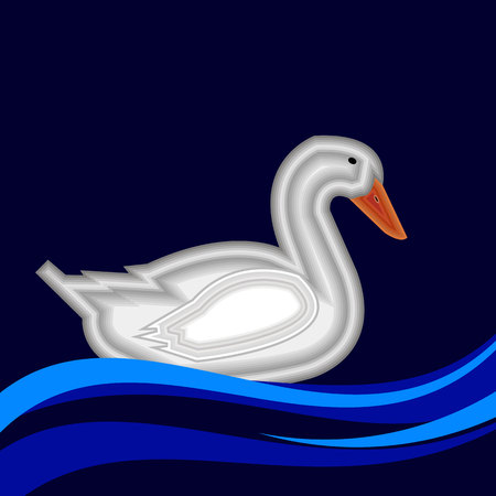 duck vector bird background animal beak cartoon cute nature illustration graphic drawing white Illustration