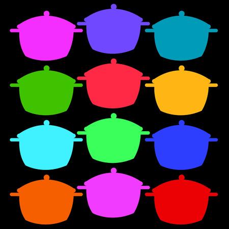 Cooking pan saucepan kitchen food illustration object pot vector cook.