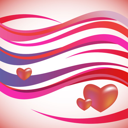 waterdrops: wave vector background love heart cute pink