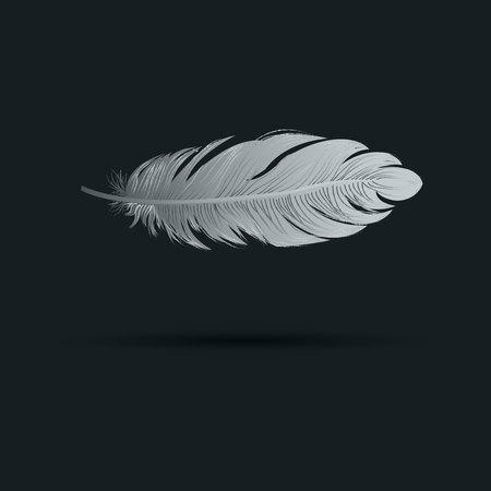 Pluma ilustración vectorial icono de arte símbolo de canilla