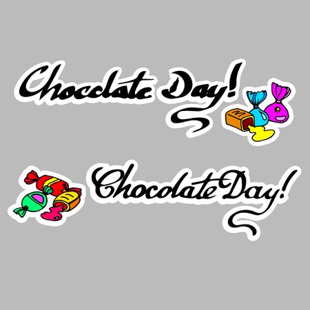 chocolate swirl: Sweet candies flat icons set in shape of circle with assorted chocolates colorful lollipops vector illustration