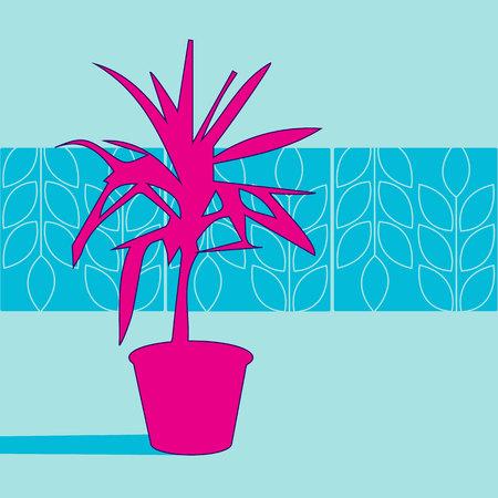 palm vector pot leaf illustration nature tree
