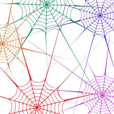 spider vector halloween illustration black design white element arachnid trap background Illustration
