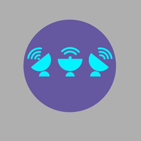 call log: dish vector antenna satellite wireless technology radio Illustration
