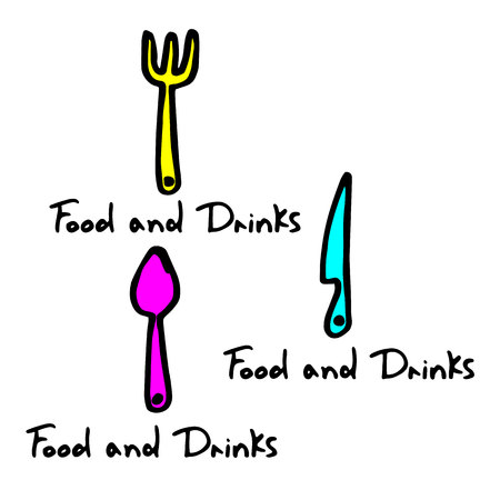spoon fork icon vector kitchen illustration restaurant food
