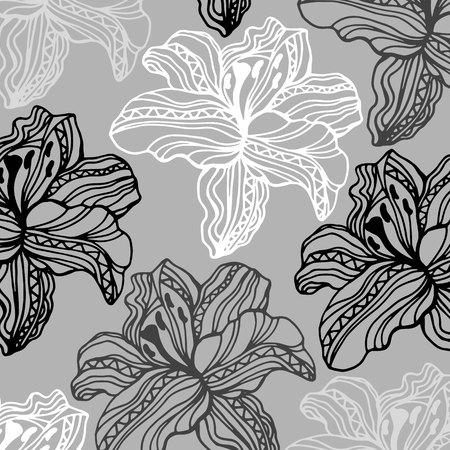 linearity: flower art illustration pattern bloom beauty green