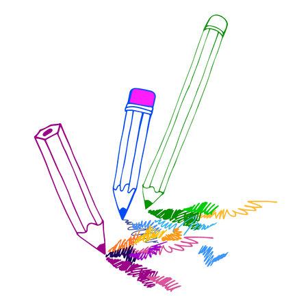 Lápiz vector ilustración diseño escuela objeto art